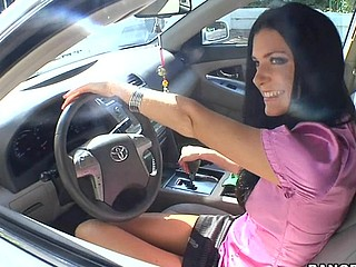 India Summer lives alone and has had a crush on the security guard that works in her apartment complex. That Babe gives a decision to lure him to the abode asking him if that guy could assist her with her security system. This of course was a bold face lie, but it did the trick. This Guy comes over and fiddles around with the key pad when all of a sudden this babe comes down stars wearing no thing but her pants. The guard can't aid him self be enticed by her and raunchy madness ensues. They fucked all over the living room and this babe pretty soon finds out that that guy likewise has had a crush on her for some time and even masturbated in the guard booth a pair times. This one is for the books. Have A Fun!