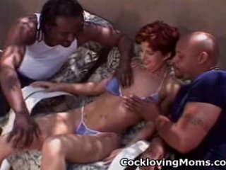 Nasty milf acquires a nasty gang...