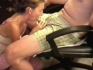 She was a bit shy because the camera was shooting, but likewise horny. I sat in an armchair and she knelt in front to wrap her lips around my cock. Then, she performed one of the best blowjobs ever.