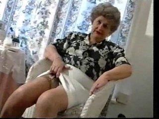 Teasing Old Granny In Nylons