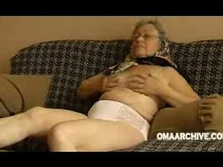 Granny couch undress